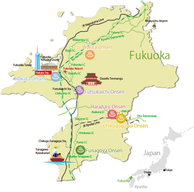 HOT SPRING GUIDE - Onsen Fukuoka -